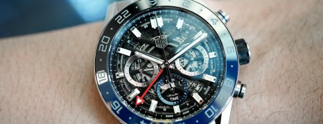 Tag Heuer Carrera Heuer02 GMT Twin Time Chronograph 45 mm Ref.CBG2A1Z (Thai AD 11/2019)