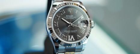 NEW!!! Rolex Datejust Dark Grey Roman Dial VI Diamonds 31 mm REF.278274 (NEW Thai AD 03/2021)