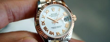 NEW!!! Rolex Datejust Everose Rolesor White Roman Dial 31 mm REF.278271 (New Thai AD 03/2021)