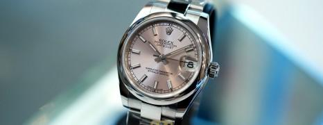 NEW!!! Rolex Datejust Pink Index Dial Boy Size 31 mm REF.178240 (NEW Thai AD 03/2021)