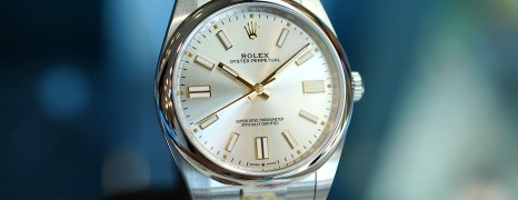 NEW!! Rolex Oyster Perpetual Silver Dial 41 mm REF.124300 (THAI AD New 05/2021)