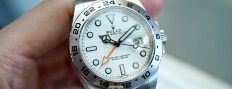 Rolex Explorer II Orange Hand White Dial 42 mm Ref.216570 (05/2019)