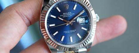 NEW!! Rolex Datejust 41 WhiteGold Bezel Blue Dial 41 mm Ref.126334 (NEW Card Thai AD 04/2021)
