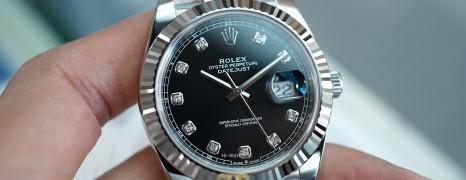 NEW!!! Rolex Datejust 41 White Gold Bezel Black Dial Diamond 41 mm Ref.126334 (NEW Thai AD 04/2021)