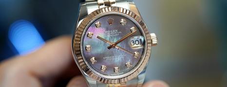 Rolex Datejust 2K Everose Gold Black MOP Diamonds 31 mm REF. 178271 (Thai AD 03/2018)