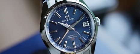 """Grand Seiko Boutique Limited Edition Automatic Hi-Beat GMT Blue Dial """"Mt. Iwate Dial"""" 40 mm Ref.SBGJ235 (Thai AD 06/2021)"""