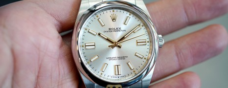 Rolex Oyster Perpetual Silver Dial 41 mm REF.124300 (THAI AD 05/2021)
