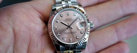 NEW!!! Rolex Datejust Jubilee Pink Dial Diamond 31 mm REF.178274 (NEW Thai AD 04/2021)