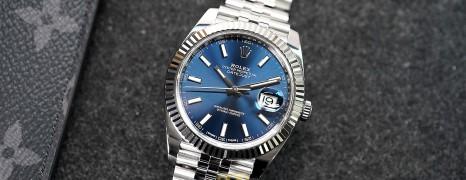 Rolex Datejust 41 WhiteGold Bezel Blue Dial 41 mm Ref.126334 (02/2018)