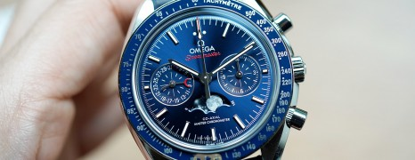 NEW!!! Omega Speedmaster Moonwatch Moonphase Blue Dial Chronograph Master Chronometer 44.25 mm (NEW Thai AD 08/2021)