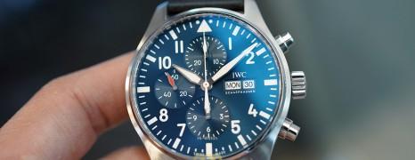 "IWC Pilot's Watch 377714 Automatic Chronograph Blue Dial Edition ""Le Petit Prince"" 43 mm (Thai AD 12/2019)"