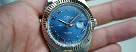 Rolex Datejust II WG Bezel Blue Roman Dial 41 mm Ref.116334 (09/2013)