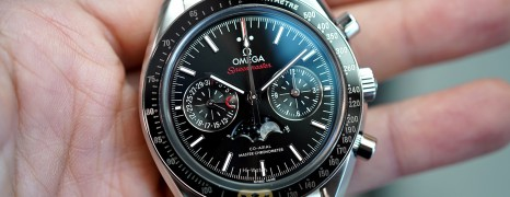 NEW!!! Omega Speedmaster Moonwatch Moonphase Black Dial Chronograph Master Chronometer 44.25 mm (NEW Thai AD 09/2021)
