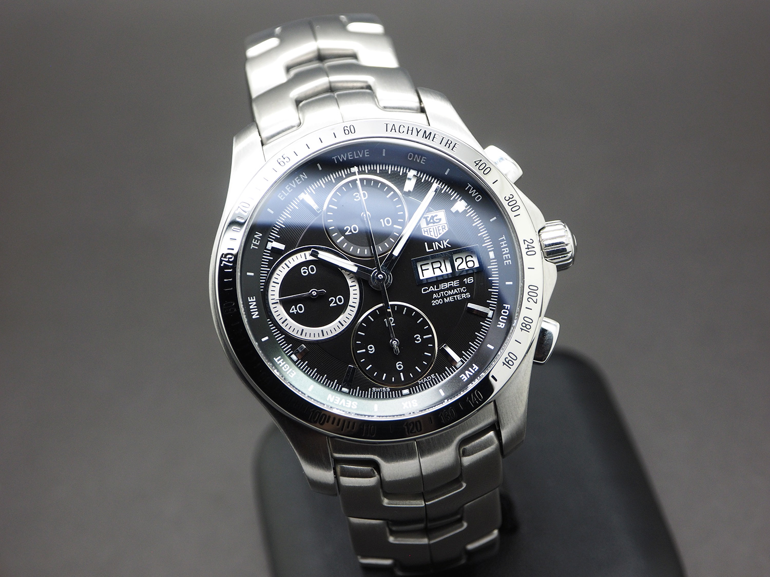 b021feeeada Tag Heuer Link Black Dial Automatic Calibre 16 Day-Date 42 mm