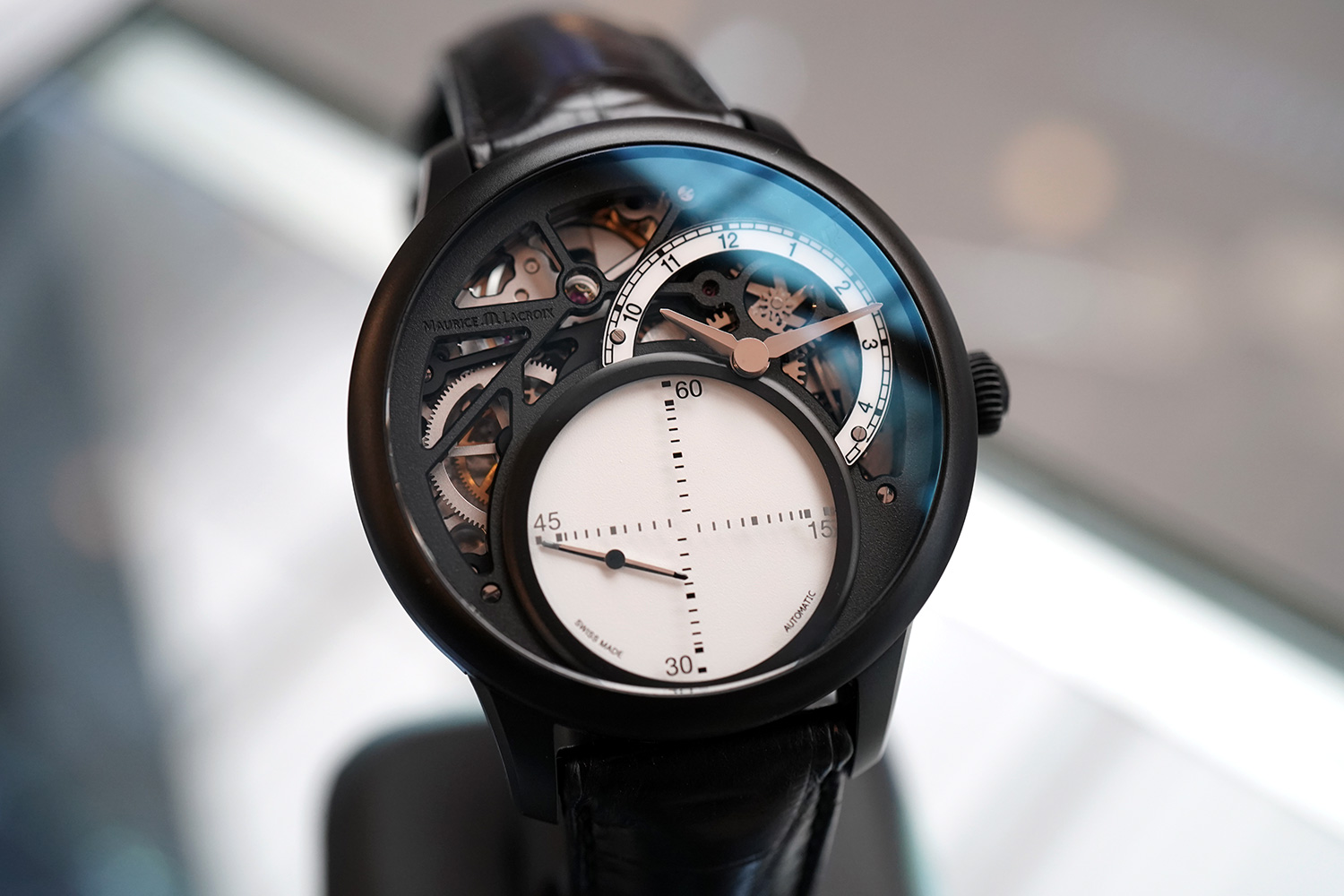 Maurice Lacroix Masterpiece Mysterious Seconds Black PVD Automatic ... 7738a15307