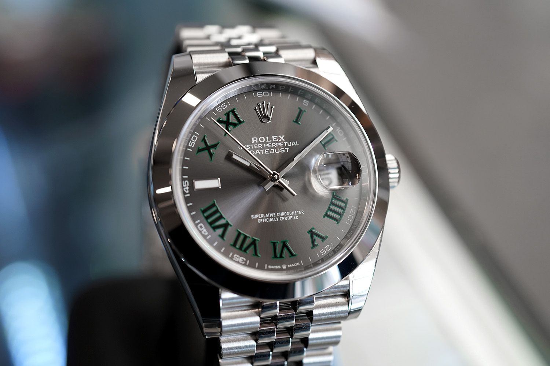 Rolex Datejust 41 Jubilee Slate Grey Roman (Wimbledon) Dial