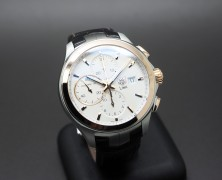 Tag Heuer Link Automatic Chronograph Calibre 16 White Dial Rose Gold Bezel 18 K 42 mm