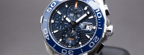 Tag Heuer Aquaracer 300M Calibre 16 Automatic Chronograph Blue Ceramic Bezel 43 mm