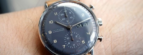 Junghans Max Bill Chronoscope Anthracite-Grey Dial Day 40 mm Ref.027/4501.01