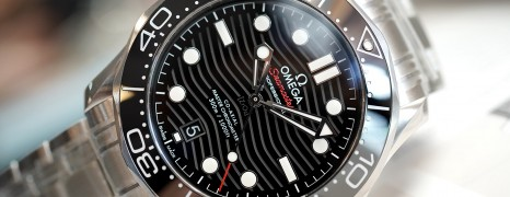 Omega Seamaster Diver 300M Omega Master Co-Axial Black Dial 42 mm (รุ่นใหม่ หน้าคลื่น)