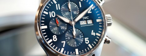 "IWC Pilot's Watch 377714 Automatic Chronograph Blue Dial Edition ""Le Petit Prince"" 43 mm"