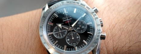 """Omega Speedmaster Broad Arrow """"1957"""" Co-Axial Chronograph Black Dial 42 mm"""