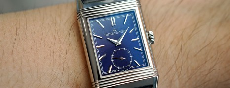 NEW!! Jaeger-LeCoultre Reverso Tribute Small Seconds Blue Dial 45.6 X 27.4 MM Ref.Q3978480 (12/2019)