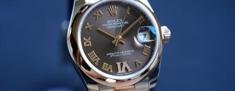 Rolex Datejust Everose Rolesor Chocolate Roman Dial 31 mm REF.178241 (09/2017)