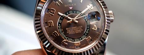 Rolex Sky-Dweller 18K Everose gold Chocolate Dial 42 mm Ref. 326135 (10/2013)