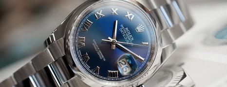 Rolex Datejust Blue Roman Dial King Size 36 mm Ref.116200 (06/2019)