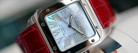 Cartier Santos 100 Midsize MOP Dial 33 mm (Discon Model)