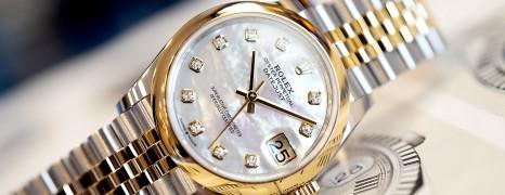 NEW!! Rolex Datejust Yellow Rolesor MOP Diamond Dial 31 mm REF.278243 (New Thai AD 08/2020)
