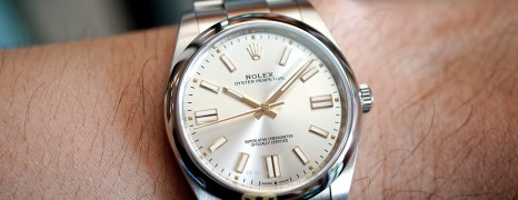 NEW!! Rolex Oyster Perpetual Silver Dial 41 mm REF.124300 (New 10/2020)