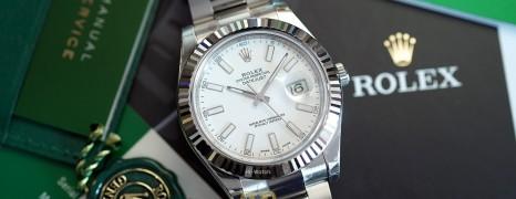 Rolex Datejust II WG Bezel White Dial 41 mm Ref.116334 (10/2017)