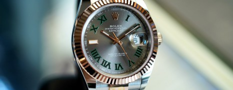 NEW!! Rolex Datejust 41 Everose Rolesor Slate Grey Roman (Wimbledon) Dial 41 mm Ref.126331 (New 02/2021)