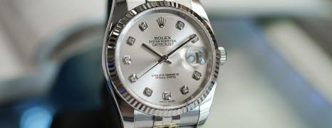 Rolex Datejust Jubilee Silver Diamond Dial 36 mm Ref.116234 (Thai AD 03/2015)