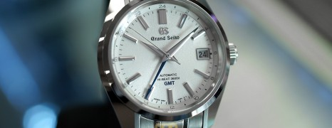 "Grand Seiko Automatic Hi-Beat GMT White Dial ""Mt. Iwate Dial"" 40 mm Ref.SBGJ201 (Thai AD 07/2020)"