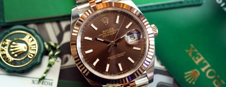 NEW!!! Rolex Datejust 41 Jubilee Twotone Rosegold Chocolate Dial 41 mm Ref.126331 (Thai AD NEW CARD 01/2021)