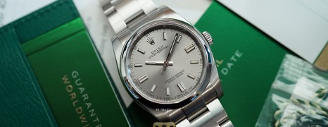 Rolex Oyster Perpetual Grey Stainless Steel Dial 36 mm REF.116000 (04/2018)