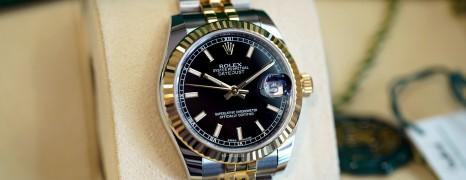 NEW!!! Rolex Datejust 2K Yellow Rolesor Black Dial 31 mm REF.178273 (NEW Thai AD 04/2021)