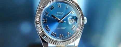 Rolex Datejust II WG Bezel Blue Roman Dial 41 mm Ref.116334 (01/2015)