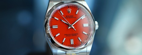 Rolex Oyster Perpetual Coral Red Dial 36 mm REF.126000 (Thai AD 03/2021)