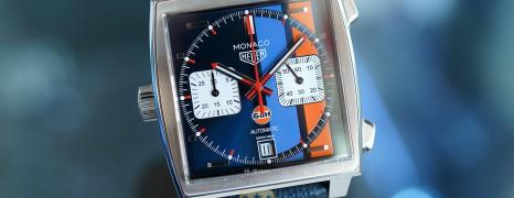Tag Heuer Monaco x Gulf Chronograph Calibre 11 Automatic 39 mm Ref.CAW211R (Thai AD 12/2019)