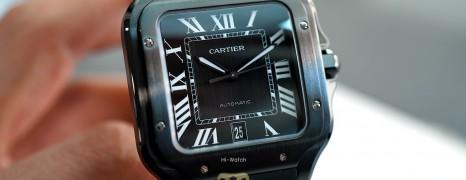 NEW!! Cartier Santos De Cartier Large Size Black ADLC 39.8 mm Ref.WSSA0039 (NEW Thai AD 05/2020)