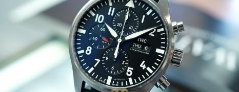 IWC Pilot's Watch 377709 Automatic Chronograph Black Dial 43 mm (Thai AD 04/2021)