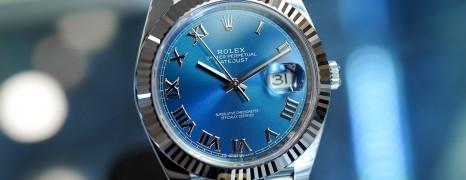 NEW!! Rolex Datejust 41 WhiteGold Bezel Blue Roman Dial 41 mm Ref.126334 (NEW Card Thai AD 07/2021)