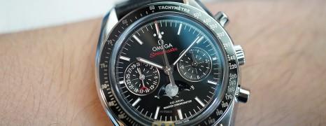 NEW!!! Omega Speedmaster Moonwatch Moonphase Black Dial Chronograph Master Chronometer 44.25 mm (NEW Thai AD 08/2021)